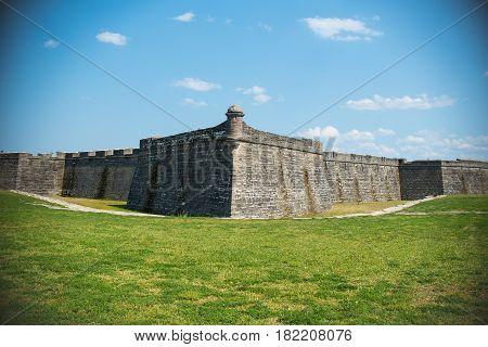 Fort at St. Augustine Florida Outside Landscape