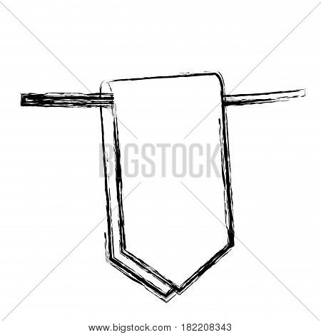 blurred silhouette flag in a rope for decoration closeup vector illustration