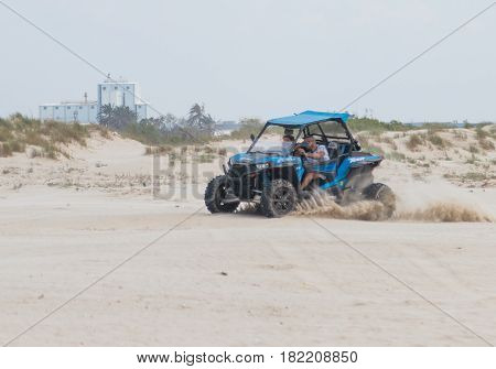 Young Man Drives Extreme On His Off-road Vehicle