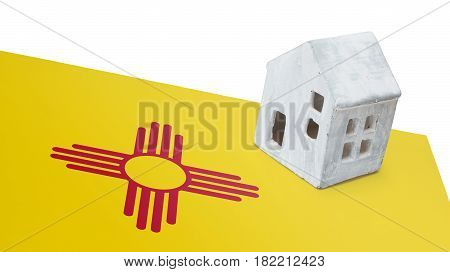 Small House On A Flag - New Mexico