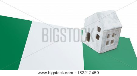 Small House On A Flag - Nigeria