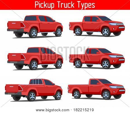 Truck Pickup Types Template Drawing
