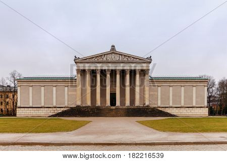The building of the Glyptotek in the royal square. Munich. Germany. Bavaria.