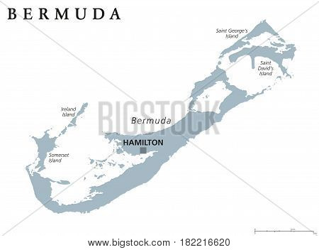 Bermuda Political Map Capital Vector Photo Bigstock