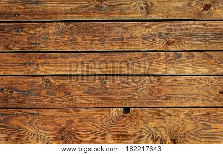 Texture of brown natural wooden planks background