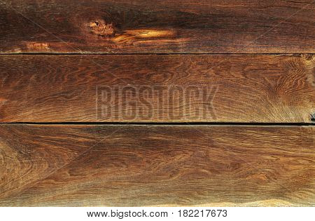 Texture of old brown natural wooden wall background