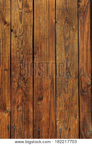Texture of brown natural wooden planked surface background