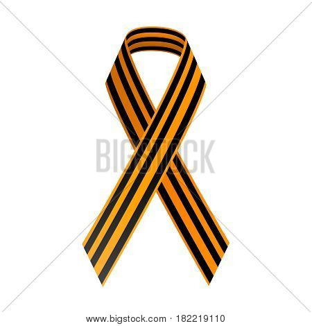 St George Black and gold Ribbon. May 9 Happy Victory day. Russian holiday. 1941-1945 - stock vector