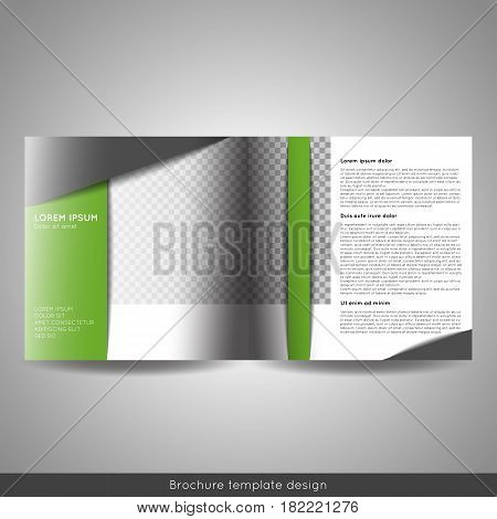 Bi-fold business brochure template vector design. Stock vector