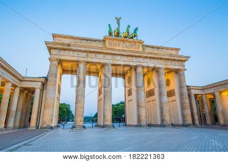 Berlin Brandenburg Gate In Twilight, Germany