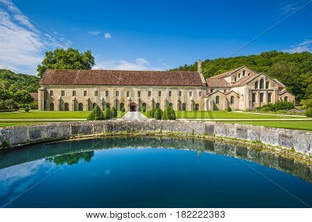 Cistercian Abbey Of Fontenay, Burgundy, France