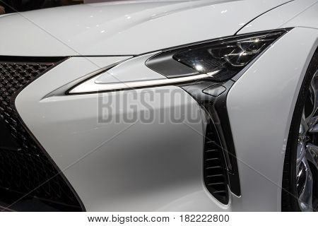 Lexus Lc500H Car Close Up
