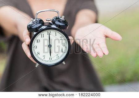 Time To Pay Money Or Bill, Clock With Open Hand To Ask Salary
