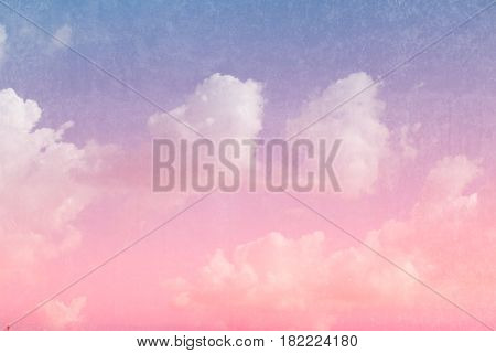 Retro Sky And Cloud With Dirty Texture Filter Color Tone Vintage Style Postcard Background