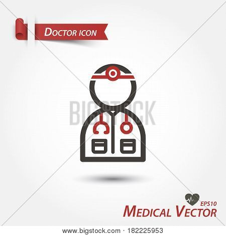 Doctor icon . a medical vector .