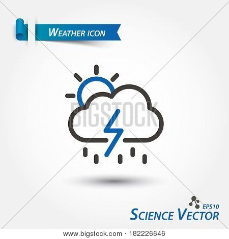 Weather forecast icon . Scientific vector .