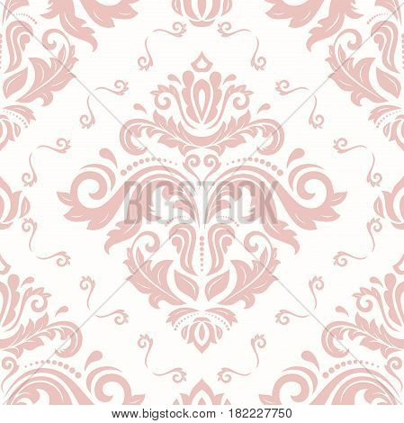 Seamless pink classic pattern. Traditional orient ornament