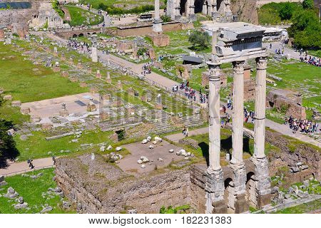 View Of The Roman Forum.