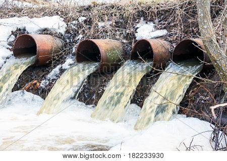 Rapid Water flows from large pipes 6