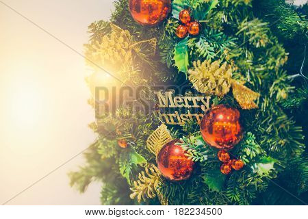 Merry Christmas new year festival tree decoration.