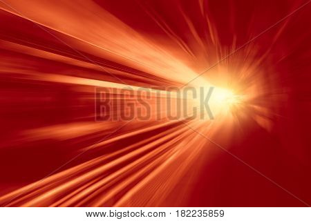Illustration of  High speed business and technology concept Acceleration super fast speedy motion blur of train station for background design.