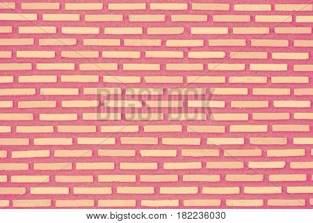 Pink Color Brick Wall, Sweet Lovely Candy Pop Teen Style Background