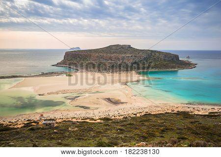 Beautiful Balos beach on Crete, Greece