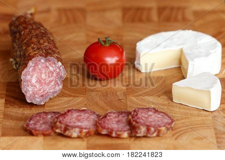 A German specialty old sausage hesse salami