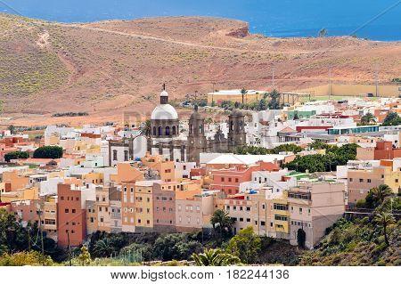 Town of Aguimes in Gran Canaria Spain