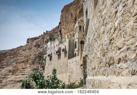 St George Orthodox Monastery, Located In Wadi Qelt, Israel