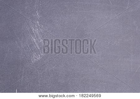 Black school board with scratches. Horizontal background board