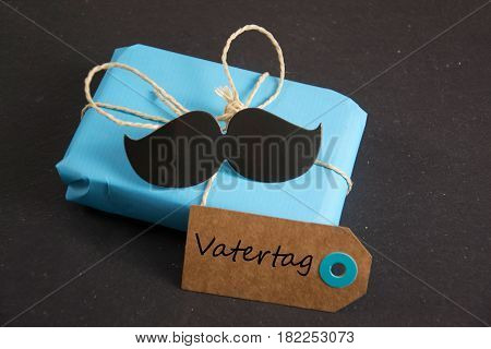 Vatertag - german for Father´s day  -  written on paper tag