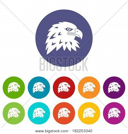 Petard icons set in circle isolated flat vector illustration