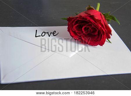 love - written on a white envelope