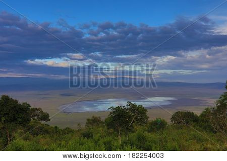 The Ngorongoro Crater in northern Tanzania Africa is a popular destination for safaris.  This conservation area a UNESCO World Heritage site.