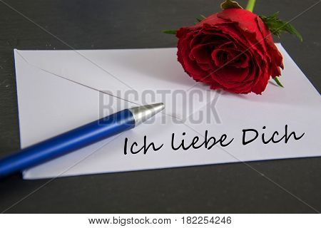 Ich liebe dich - german for i love you
