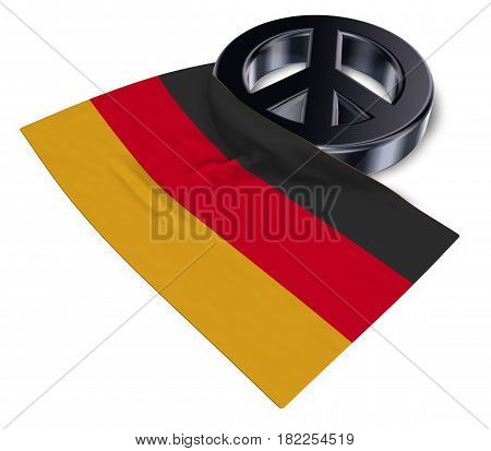 peace symbol and flag of germany - 3d rendering