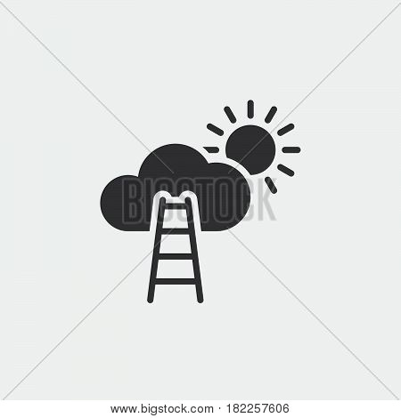 stairway to sky solid icon career vector illustration pictogram isolated on white