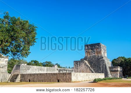 Chichen Itza Ball Court And Temple