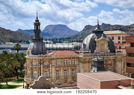Palacio Consistorial - town hall building in the city centre of Cartagena, Spain