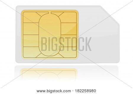 Sim card. Vector 3d illustration isolated on white background