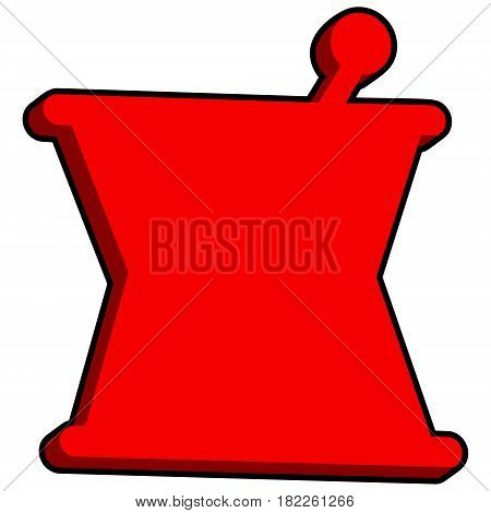 A vector illustration of a 3D Mortar and Pestle.