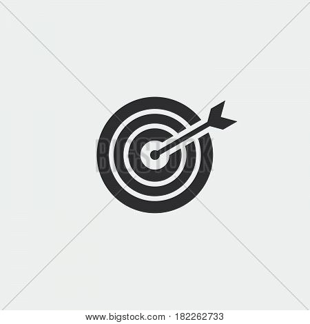 target icon isolated on grey background .