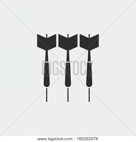 dart icon isolated on grey background .