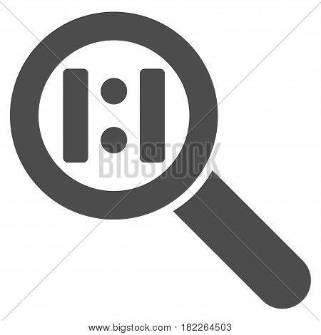 Zoom Actual Size vector icon. Illustration style is a flat iconic gray symbol on a white background.