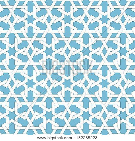 Vector abstract geometric islamic background. Based on ethnic muslim ornaments. Intertwined paper stripes. Elegant background for cards, invitations etc.