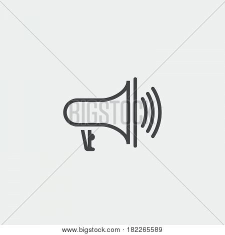 bullhorn icon isolated on grey background .
