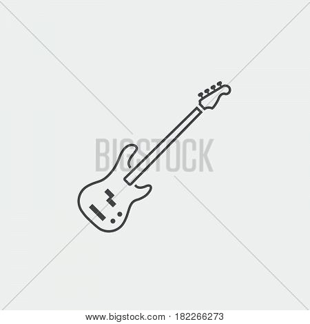 bass guitar Icon isolated on grey background