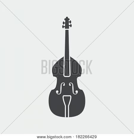 Contrabass icon isolated on grey background .