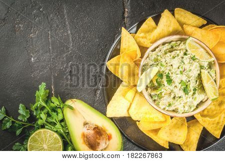 Homemade Guacamole In Bowl